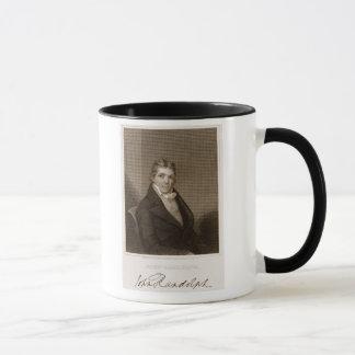 Caneca John Randolph (1773-1833) gravado por Thomas B.