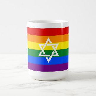 Caneca judaica do orgulho com estrela de David