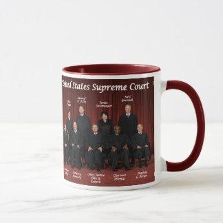 Caneca Juizes do Tribunal Supremos & selo dos Estados