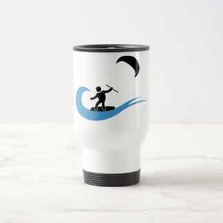 Caneca kitesurfing legal com ícone do kitesurf