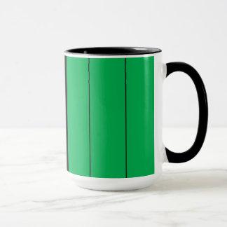 Caneca Kwanzaa colore o teste padrão verde preto vermelho