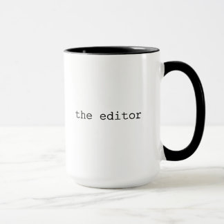 Caneca legal do presente do editor