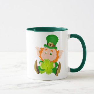 Caneca Leprechaun do dia de St Patrick feliz