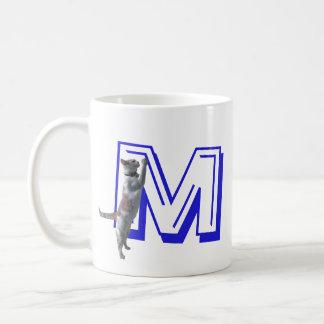 Caneca - letra M com gato e nome