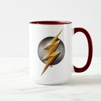 Caneca Liga de justiça   o símbolo metálico instantâneo