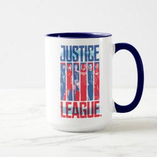 Caneca Liga de justiça pop art azul & vermelho de | do