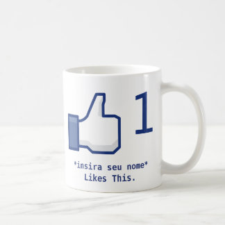 """Caneca """"Likes This"""" Facebook (Personalizável)"""