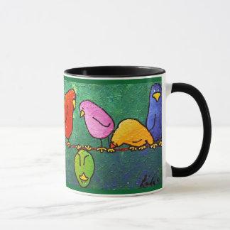 """Caneca LimbBirds """"Feelin para baixo?"""" Copo de café"""