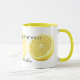 Caneca Limonada - se a vida lhe dá limões