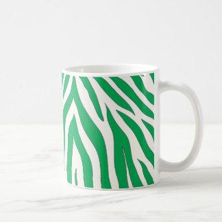 Caneca listrada da zebra verde
