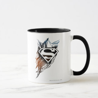 Caneca Logotipo alaranjado | azul estilizado do superman