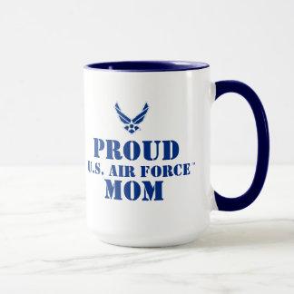 Caneca Logotipo azul pequeno da força aérea com esboço