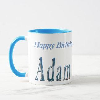 Caneca Logotipo conhecido azul de Adam,