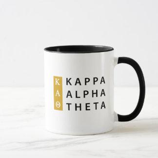 Caneca Logotipo empilhado   alfa da teta do Kappa