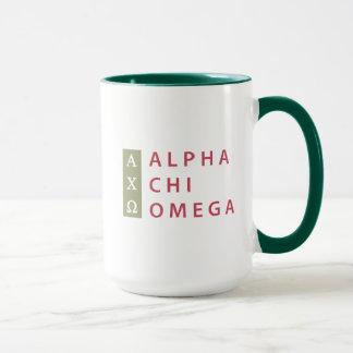 Caneca Logotipo empilhado | alfa de Omega do qui