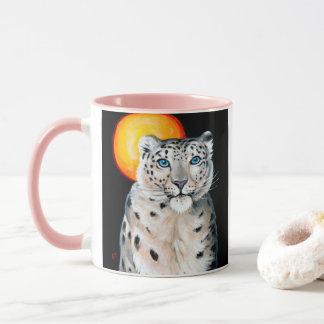 Caneca Lua do leopardo de neve