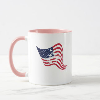 Caneca Luta do Wrestle do amor da bandeira americana
