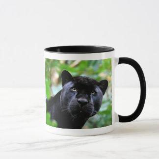 Caneca Macro da pantera preta