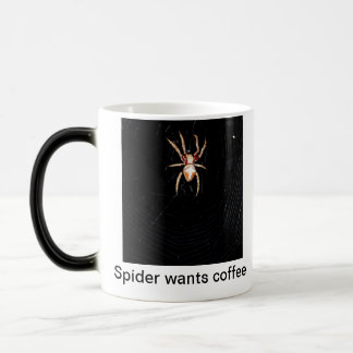 Caneca Mágica A aranha quer o café