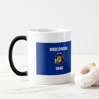 Caneca Mágica Bandeira de Wisconsin