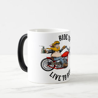 Caneca Mágica Biker motard ride to live