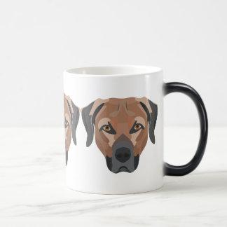 Caneca Mágica Cão Brown Labrador da ilustração