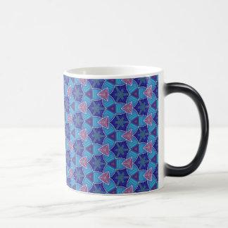 Caneca Mágica Chávena MUG Jimette Desenho azul de lilás rosa