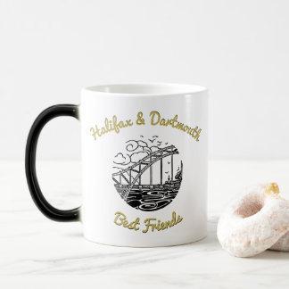 Caneca Mágica Copo de chá Halifax do café & melhores amigos   de