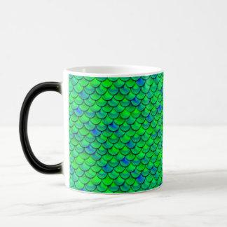 Caneca Mágica Escalas verdes do azul de Falln