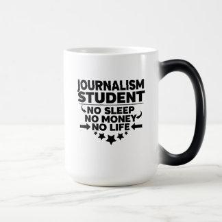 Caneca Mágica Estudante do jornalismo nenhum sono nenhum