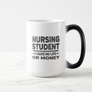 Caneca Mágica Estudante universitário dos cuidados nenhum vida