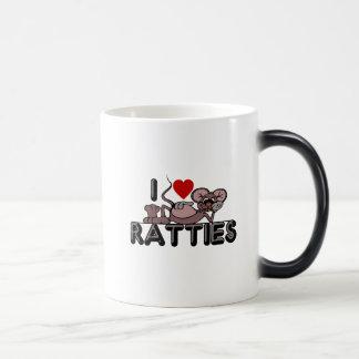 Caneca Mágica Eu amo Ratties