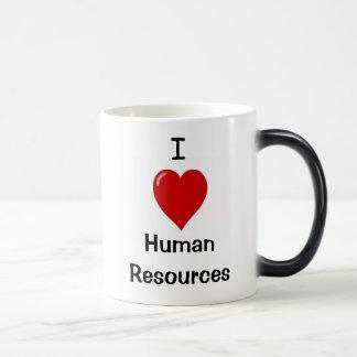 Caneca Mágica Eu amo recursos humanos - o dobro tomou partido