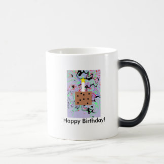 Caneca Mágica Feliz aniversario