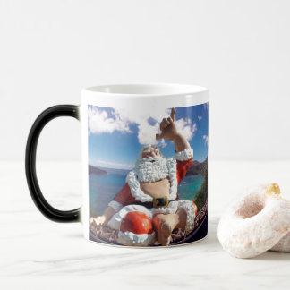 Caneca Mágica Feliz Natal Havaí Papai Noel