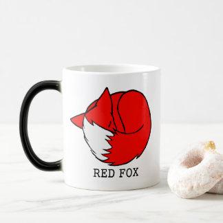 Caneca Mágica Fox vermelho, Fox azul
