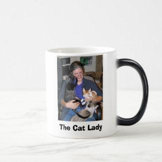 Caneca Mágica gato - smokey e vidros, senhora do gato