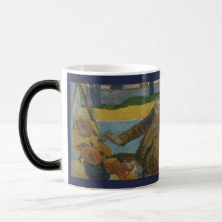 Caneca Mágica Girassóis da pintura de Van Gogh por Paul Gauguin