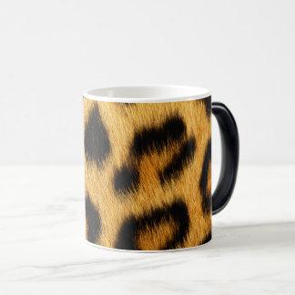 Caneca Mágica Impressão animal da pele do leopardo