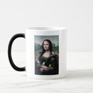 Caneca Mágica Mona Lisa & Budgies