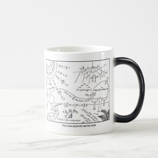 Caneca Mágica Mug physicists see the world [LEFT HANDED]
