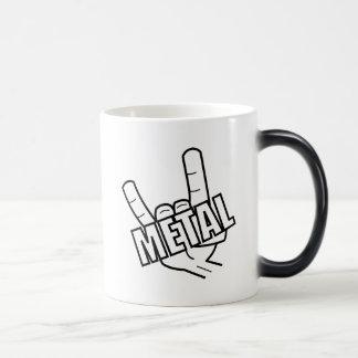 Caneca Mágica Música da saudação do metal pesado