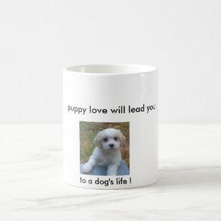 Caneca Mágica O amor de filhote de cachorro conduzi-lo-á… à vida