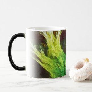 Caneca Mágica O DeepDream de uma alga de cores desvanecidas da