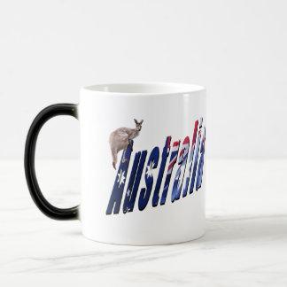 Caneca Mágica O logotipo dimensional australiano, mágica Morph a
