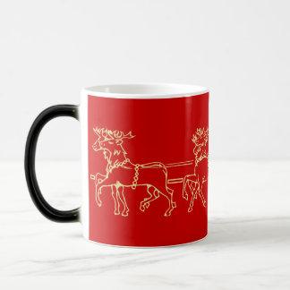 Caneca Mágica O Natal mágico caçoa o leite do trenó da rena do