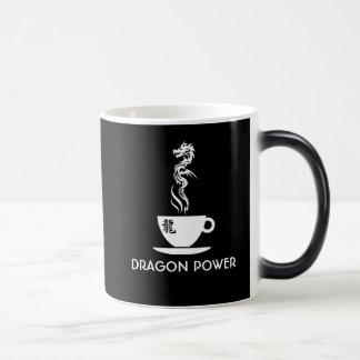 Caneca Mágica Preto engraçado customizável do poder do dragão