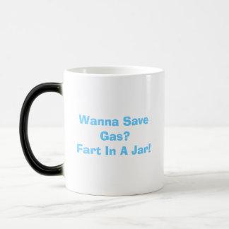 Caneca Mágica Queira salvar o gás? Fart em um frasco! Calor -