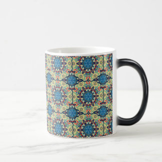 Caneca Mágica Teste padrão floral étnico abstrato colorido de da
