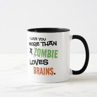 Caneca Mais do que um zombi ama cérebros